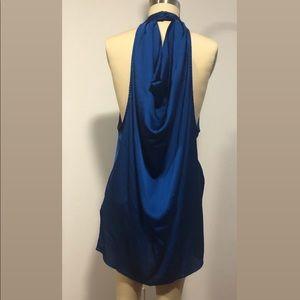Blue open side Dress